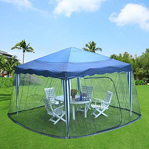 Mesh Mosquito Umbrella Canopy, Blue Anti-Insect Outdoor Mesh Sunscreen Canopy, Screen House Camping Canopy Shade Tent for Patio(118.11x118.11x90.55in)