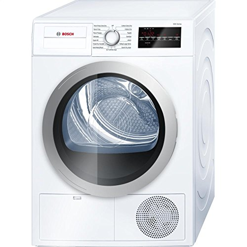 Bosch WTG86401UC 24' 500 Series Compact Condensation Dryer with 4.0 Cu. Ft. Capacity Stainless Steel Drum Sensitive Drying System 15 Dry Cycles 4 Temperature Settings and Large LED Display: