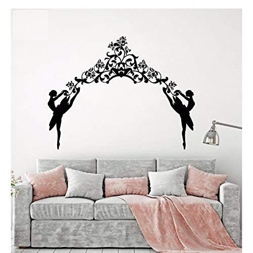Vinyl Muursticker Ballerina's Ballet Meisje Droom Dans Vrouw Danser Arch Kamer Home Decoratie Stickers57x74cm