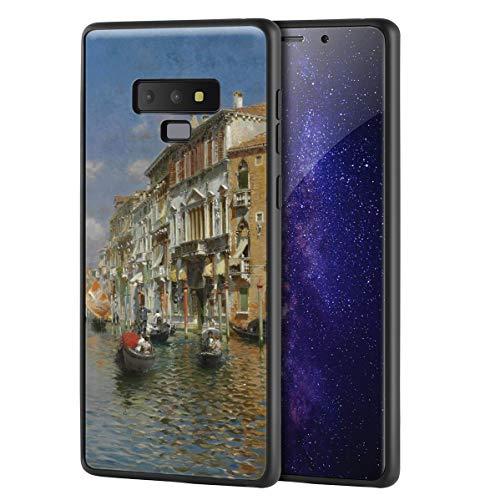 Berkin Arts Rubens Santoro für Samsung Galaxy Note 9 Hülle/Kunst Handyhülle/Giclée UV Druck auf der Handyabdeckung(Gondolas On Das Grand Kanal Venedig)