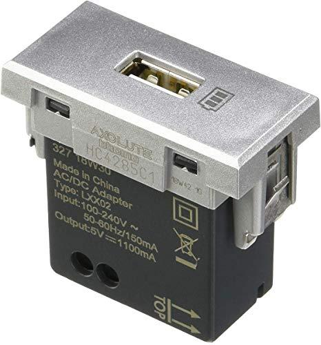 BTicino Axolute Caricatore USB con tensione 5 Vd.c., Grigio
