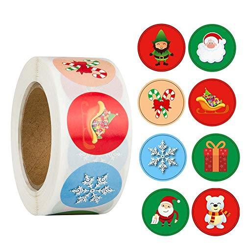 Etiquetas Adhesivas Navidad Grandes Marca Pveath