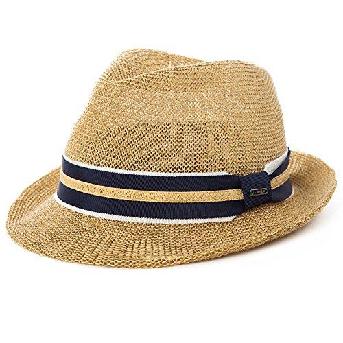 SiggiHat Panama zomer Fedora Trilby stro zon hoeden voor mannen Safari strand hoed - opvouwbaar