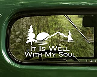 2 it Is Well With my Soul Decal Stickers White For Window Car Truck Laptop Bumper Rv