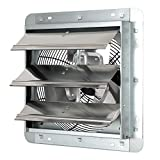 """iLiving ILG8SF12V - 12"""" Wall Mounted Exhaust Fan - Automatic Shutter - Variable Speed - Vent Fan For Home Attic, Shed, or Garage Ventilation, 960 CFM, 1400 SQF Coverage Area (Power Cord Not Included)"""