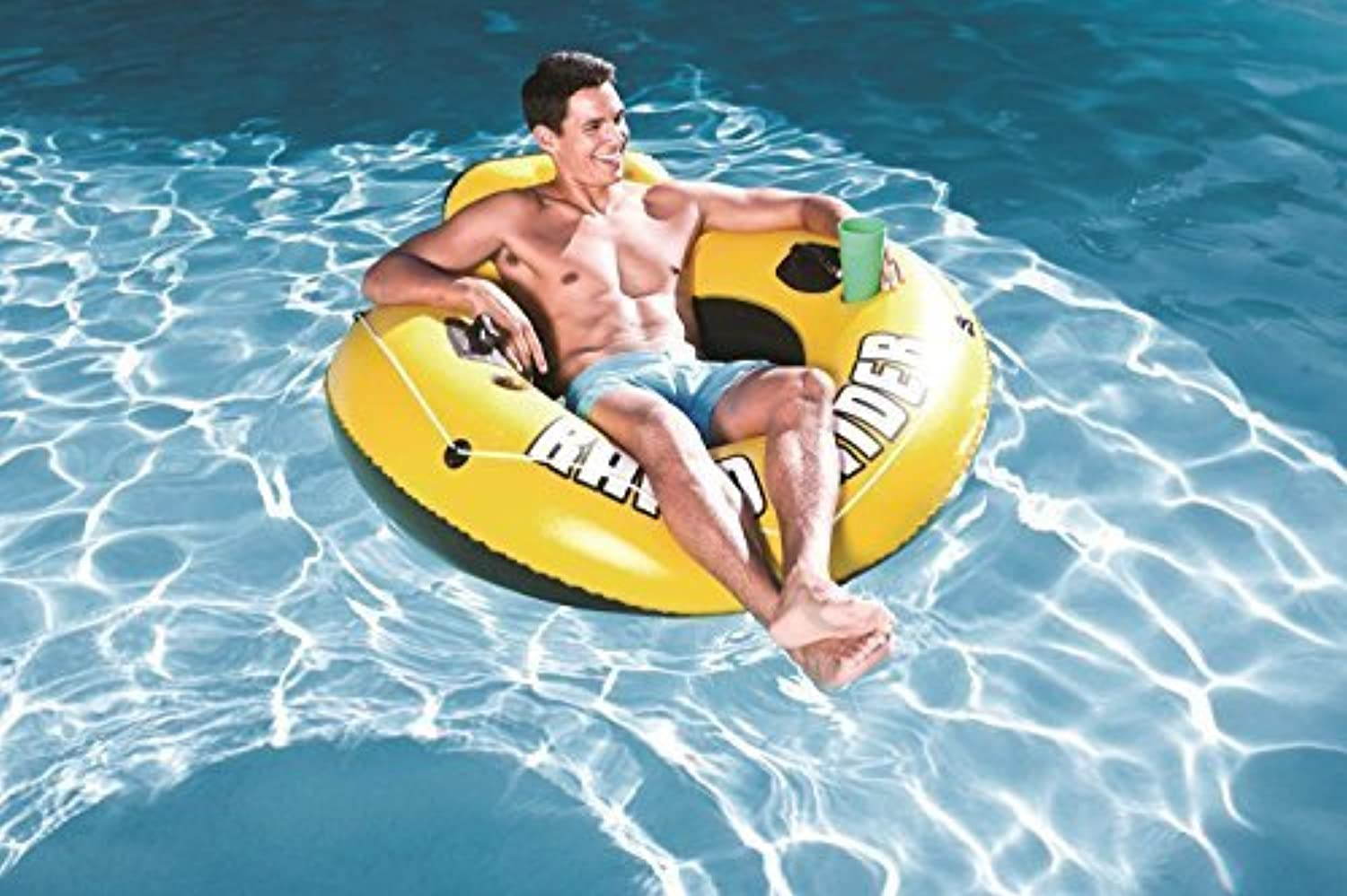 Bestway Rapid Rider I 53 Inflatable Floating Pool Raft Tube (2-Pack) by Swimming Pool Inflatable Rafts