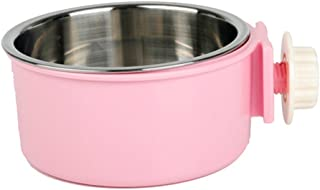 Pets Empire Stainless Steel Dog Bowl Removable Hanging Food Water Pets Cage Coop Cup Large Cat Puppy Birds Food Bowl with ...