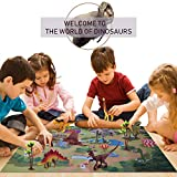 M.best Dinosaur Toys Figures with Activity Play Mat & Trees to Create a Dino World for Kids, Boys & Girls