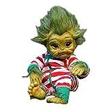 DQANIU Reborn Baby Doll, Reborn Baby Grinch Toy Real Touch Realista Muñeca de Dibujos Animados Realista Muñeca de simulación de Navidad Juguetes niños Muñeca de navidad