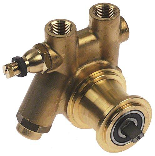 FLUID-O-TECH 131A060F123A150 - Cabezal de bomba para cafetera expreso La-Cimbali para bomba de aumento de presión con filtro y bypass de longitud 82 mm