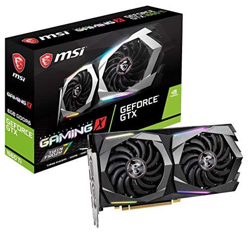 MSI Gaming GeForce GTX 1660 Ti 192-bit HDMI/DP 6GB GDRR6 HDCP Support DirectX 12 Dual Fan VR Ready OC Graphics Card (GTX 1660 TI Gaming X 6G) (Renewed)
