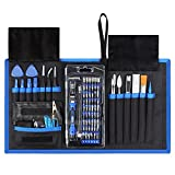 Syntus 80 in 1 Precision Screwdriver Set with Magnetic Screwdriver Kit, Essential Electronics Repair Tool Kit With Portable Pouch for iPhone, iPad, MacBook, Gaming Console, Controller, Black and Blue