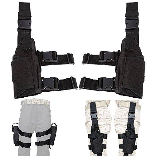 Left Hand & Right Hand Adjustable Universal Waterproof Pistol/Gun Drop Puttee Leg Thigh Holster Pouch Holder