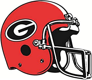 8 Inch Football Helmet Uga University of Georgia Bulldogs Mascot Logo Removable Wall Decal Sticker Art NCAA Home Room Decor 8 by 6 Inches