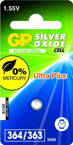 GP Batteries 040UP364C1 Pile de montre 364 SR621SW/1,55 V