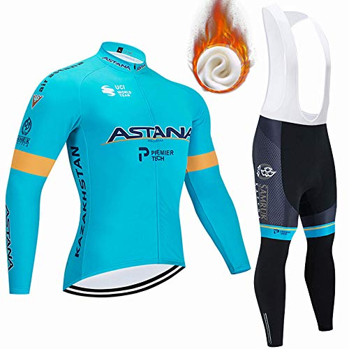 CQXMM Abbigliamento da Ciclismo Invernale Manica Lunga MTB Sport all'Aria Aperta Abbigliamento da Ciclismo Uomo