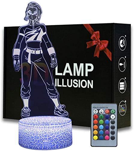 Game Series Battle Royale 3D Ilusión noche luz ABS base acrílico Junta con control Romete lámpara de mesa decoración hogar y habitación (MY137-Catalyst)