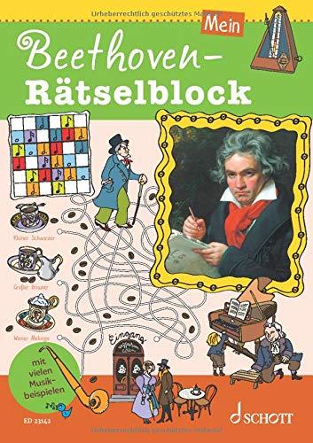 Mein Beethoven-Rätselblock: Ausgabe mit Online-Audiodatei.