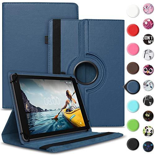 Tablet Hülle kompatibel für Medion Lifetab E6912 Tasche Schutzhülle Hülle Cover aus Kunstleder Standfunktion 360° Drehbar, Farben:Blau