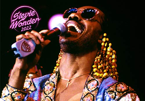 Calendario de pared 2020 [12 páginas 8 x 11 pulgadas] Stevie Wonder Vintage Music Póster Photo Magazine Cover
