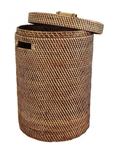 livasia Wäschekorb aus Bambus, Wäschebox, Wäschetonne, Wäschesammler, aus Bali (Handarbeit)