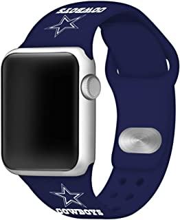 GAME TIME Dallas Cowboys Silicone Sport Band Compatible with Apple Watch - (38mm/40mm Navy Blue)