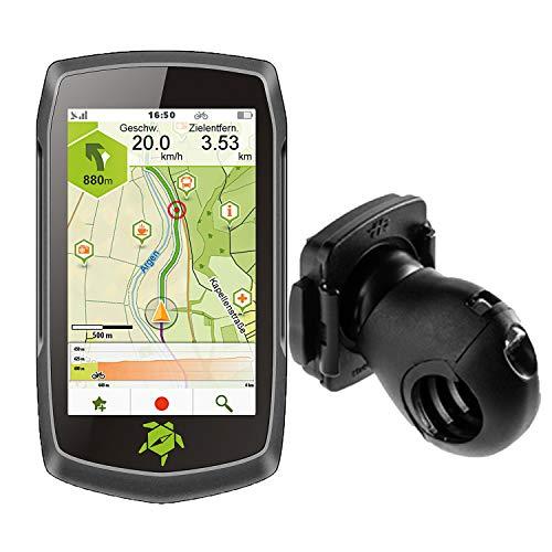 Tahuna Teasi ONE4 + Fahrradhalter Lenkerbefestigung + USB Netzteil + Schutzfolie + optionales Zubehör (Tahuna Teasi ONE4 + MTB Halter Kugelgelenk, ohne Zubehör)