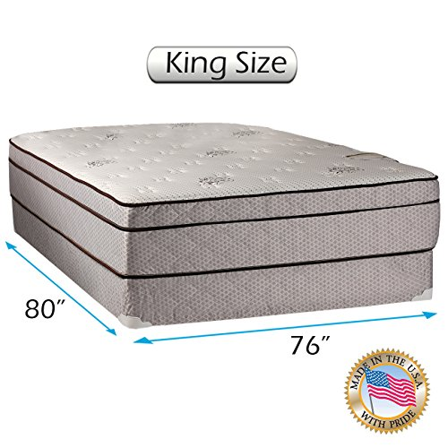 Best Buy! Dream Sleep Fifth Ave Plush Foam Encased Eurotop (PillowTop) King Mattress and Box Spring ...