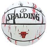 SPALDING(スポルディング) バスケットボール 7号 屋外用 ラバー ブルズ マーブル NBA公認 83-930J 83-930J