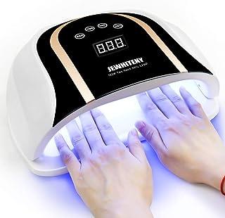 لامپ ناخن LED 120 وات UV ، خشک کن ناخن سریعتر برای ژل لهستانی با تنظیم 4 تایمر ، لامپ اشعه ماورا بنفش ژل حرفه ای برای لامپ دو دست پخت با 54 عدد ماشین ناخن سنسور اتوماتیک