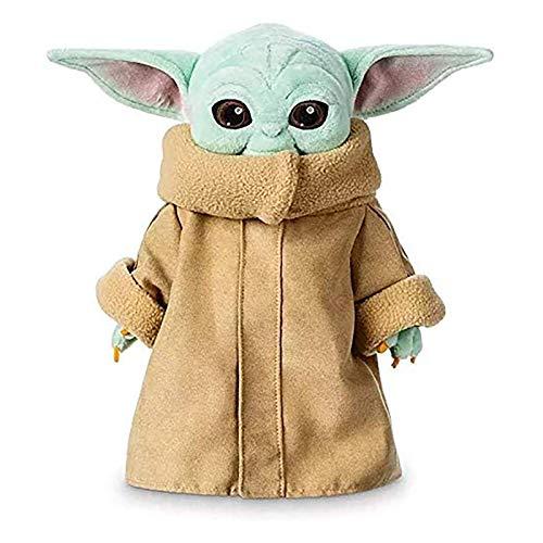 2020 Nuevo Juguete De Peluche Yoda Bebé,Star Wars Figuras De Juguetes,Lindo Mandalorian Yoda Muñeca,Bebé Suave Yoda Relleno Animal Niños Niños'S Cumpleaños Regalo De La Colección De Navidad (L)