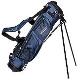 Golf Tragetasche Pancelbag für 6 Schläger Halbsatztasche in BLAU mit Schutzkappe und Schultergurt.