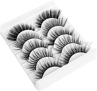 5 Pairs Mixed Styles Natural Handmade Thick Long False Eyelashes Soft 3D Mink Hair Variety Pack Eyelashes Extension