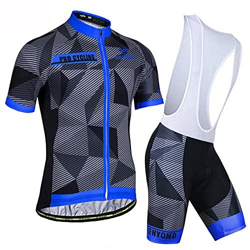 HXTSWGS Camiseta de Ciclismo Transpirable para Hombre, Ropa de Bicicleta de Manga Corta, Camiseta de MTB Superior para Bicicleta, Transpirable Summer-A04_4XL