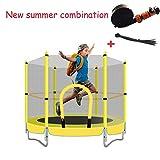 DZWJ Outdoor Trampolin, Kinder Trampolin Wasserspray Park Spaß Sommer Outdoor Wasserspiele Spielzeug Trampolin Kombination