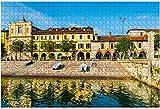 1000 piezas-Lago Maggiore Arona Centro histórico Norte de Italia Rompecabezas de madera DIY Niños Rompecabezas educativos Regalo de descompresión para adultos Juegos creativos Juguetes Rompecabez