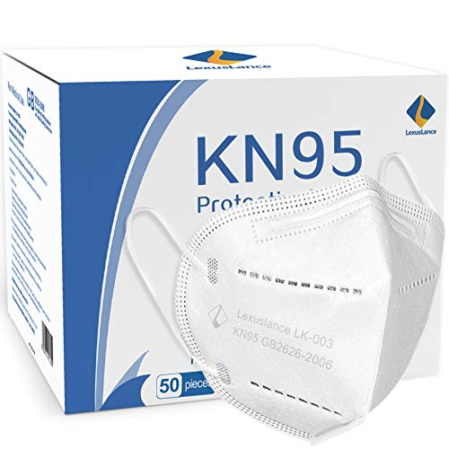 Lexuslance - 50 Mascherine KN95 Autorizzate INAIL Adulti BFE ≥97%. Mascherine KN95 sigillate in comode bustine apri e chiudi da 5 pezzi. Certificata GB 2626/2006 Dispositivo di protezione individuale