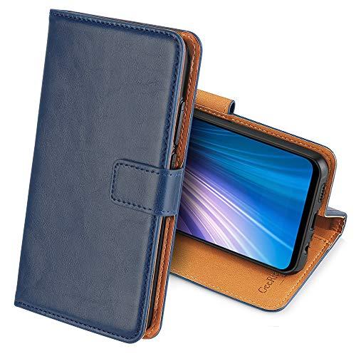 GeeRic Kompatibel Für Xiaomi Redmi Note 8 Hülle, [Standfunktion] [Kartenfach] [Magnet] [Anti-Rutsch] PU-Leder Schutzhülle Brieftasche Handyhülle Kompatibel Mit Xiaomi Redmi Note 8 Blau