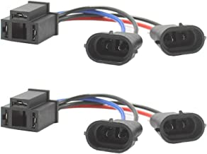 HoldCY H4 to H9/H11 Wire Harness Adapter - Hi/Lo Dual Beam Headlight Splitter - H4 Wiring Harness Headlights - For Harley Davidson CVO Road King Street Glide Touring Cruisers Road Glide (Pack of 2)