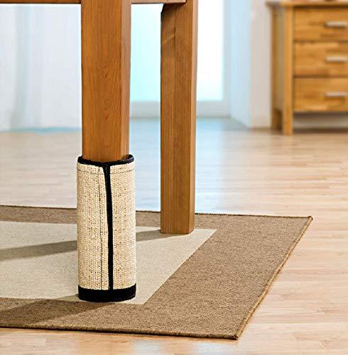 Katzen Kratzmatte Kratzbaum - schont Möbel und Wände - mit Rundum-Klettverschluss - aus Sisal und Polyester - Maße: 44 x 30,5 cm (4 Stück)