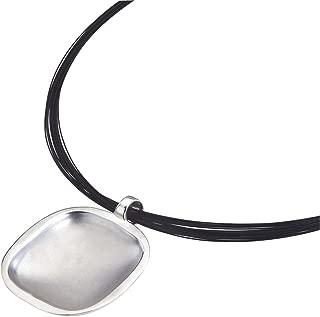 AX Jewelry Caroline Ballou Cobblestone Black Wire Sterling Silver Necklace