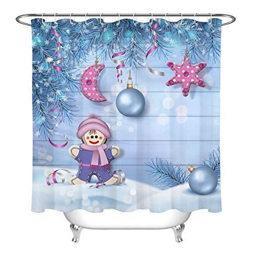 Ornamenti per Palle di Natale Gingerbread Girl Materiale Impermeabile Stampato 3D 180X180CM