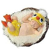 Fotografía Baby Set Bebé recién nacido Fotografía Prop Bebé recién nacido niña / niño Traje de punto de ganchillo Fotografía Fotografía Prop Sombreros Trajes Vestido hecho a mano Traje Prop Fotografía