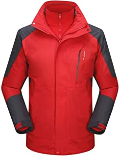 Mens Windbreaker Coats,Waterproof Ski Jacket for Men 3 in 1 Winter Jacket Windbreaker Snow Coat for Hiking Snowboard
