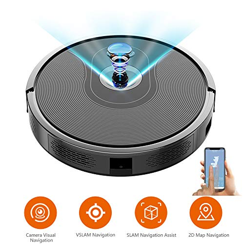 Lowest Prices! APP Controlled Robot Vacuum Cleaner, with Camera Navigation, Draw Cleaning Area Robot...