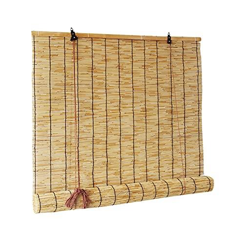 STZLY Parasol de Bambú Enrollable para Ventana, Rollos de Valla de Bambú, Rollo de Pantalla de Lámina, Persianas de Ventana de Lámina, Decoración del Hogar