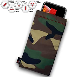 PHOOZY Apollo II Series Thermal Phone Case - Insulated with NASA Technology to Protect Against Cold & Extend Battery Life. for iPhone 8/X/Xs/Xr/11 Pro, S8/S9/S10 and Similar Phones [Plus – Woodland]