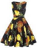 GRACE KARIN Pineapple Flower Print Wedding Dress Wear to Work Size XL F-61