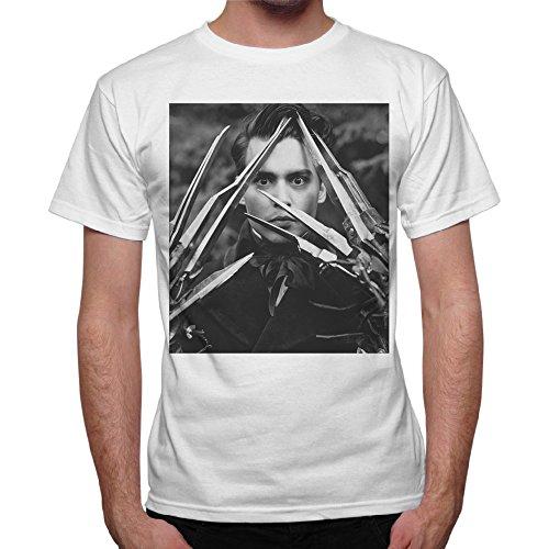 Camiseta para hombre, Eduardo Manostijeras, color blanco