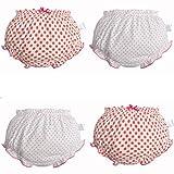 Pantalones de Entrenamiento para Bebé 4 Paquetes, Morbuy Niños Niñas Bragas de Aprendizaje Reutilizable para niños Pequeños de Algodón pañales Ropa Interior (B,80# /0-1 años)